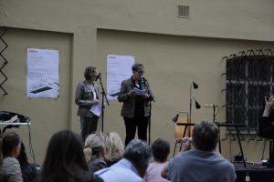 Präsentation wörter-pracht-fracht_Christine Prantauer und Barbara Hundegger